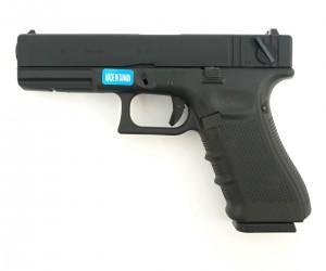 Страйкбольный пистолет WE Glock-18 Gen.4, сменные накладки (WE-G002B-BK)