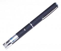 Лазерная указка в виде ручки 200 mW  (Синий цвет) + 5 насадок