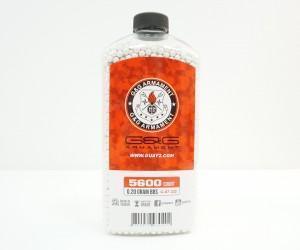 Шары для страйкбола G&G 0,20 г, 5600 штук (белые, бутылка) G-07-232