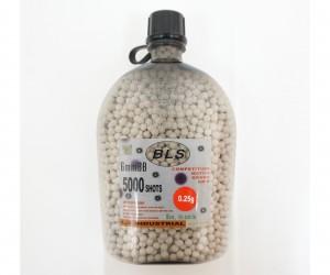 Шары для страйкбола BLS 0,25 г, 5000 штук (белые) фляга-бутылка