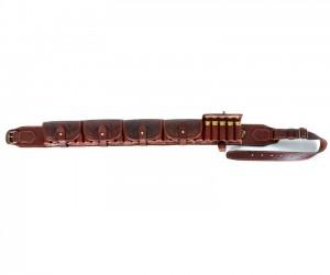 Патронташ Vektor в исполнении люкс, закрытый с тисненым рисунком