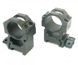 Кольца Leapers UTG 25,4 мм быстросъемные на Weaver, с винтовым зажимом, высокие, 2 винта (RG2W1204)