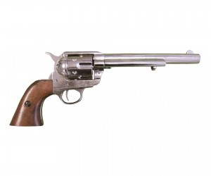 """Макет револьвер Colt Peacemaker .45, 7½"""", никель (США, 1873 г.) DE-1107-NQ"""
