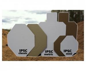 Мишень IPSC мини (с белой стороной) 300x375 мм, гофрокартон Т23, 10 штук
