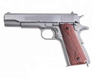 Пневматический пистолет Swiss Arms SA1911 SSP Seventies Stainless Pistol (Colt)
