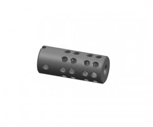 """Дульный компенсатор """"Веер14"""" двухкамерный, тип АК резьба 14 мм, левая (сталь)"""