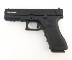 Страйкбольный пистолет KJW Glock G18 CO2, металл. затвор (KP-18-MS.CO2)