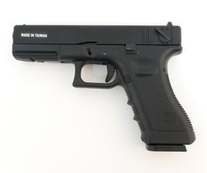 Страйкбольный пистолет KJW Glock G18 CO₂, металл. затвор (KP-18-MS.CO2)