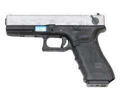Страйкбольный пистолет WE Glock-18 Gen.4 Silver, сменные накладки (WE-G002B-SV)