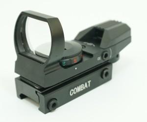 Коллиматорный прицел Combat 1x22x33 открытый, на Weaver