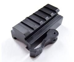 Планка-переходник (адаптер) быстросъемный с Weaver на Weaver (BH-MR08)