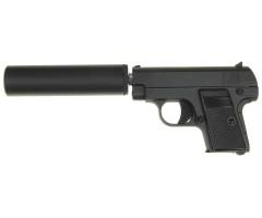 Страйкбольный пистолет Galaxy G.9A (Colt 25 mini) с глушителем