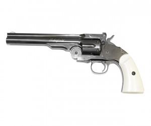 """Пневматический револьвер ASG Schofield 6"""" Steel Grey"""