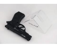 Подставка для пистолетов Stalker «треугольник», прозрачный пластик