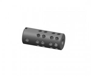 """Дульный компенсатор """"Веер24"""" двухкамерный, тип АК резьба 24 мм (сталь)"""