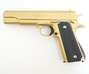 Страйкбольный пистолет Galaxy G.13GD (Colt 1911) золотистый