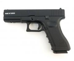 Страйкбольный пистолет KJW Glock G17 Gas, металл. затвор (KP-17-MS)