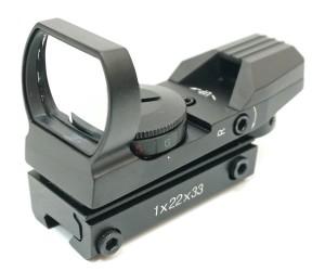 Коллиматорный прицел Target Optic 1x22x33, открытый, на призму 11 мм, 4 марки