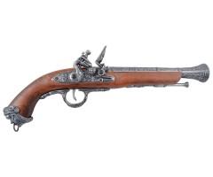 Макет пиратский пистолет, сталь (Италия, XVIII век) DE-1031-G