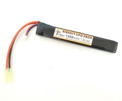 Аккумулятор iPower Li-po 7.4V 1300mAh 20C, 130x20x12 мм (стик)