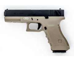 Страйкбольный пистолет WE Glock-18 Gen.3 Tan (WE-G002A-TAN)