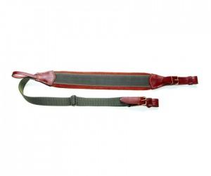 Ремень для ружья Vektor комбинированный из натуральной кожи и синтетической ткани, с регулировкой длины