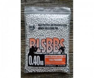Шары для страйкбола BLS 0,40 г, 2500 штук (1 кг, белые/серые) 1KG-P40