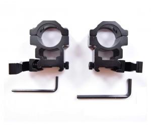 Кольца 25,4 мм быстросъемные на Weaver, высокие (BH-RS24)