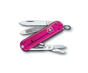 Нож-брелок Victorinox Classic 0.6203.T5 (58 мм, полупрозрачный розовый)