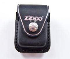 Чехол для зажигалки Zippo LPCBK из кожи, с клипом, черный