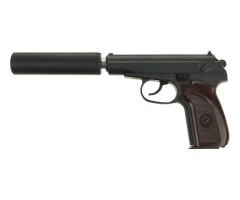 Страйкбольный пистолет Galaxy G.29A (ПМ) с глушителем