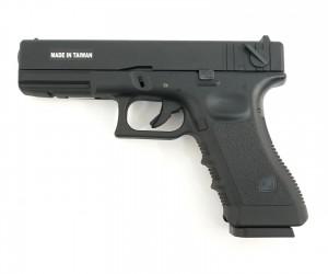 Страйкбольный пистолет KJW Glock G18 Gas, металл. затвор (KP-18-MS)