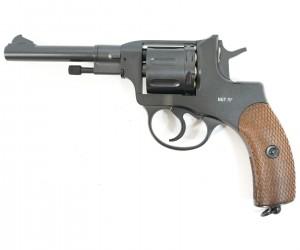 Пневматический револьвер Gletcher NGT R / RF Black, пулевой (Наган)