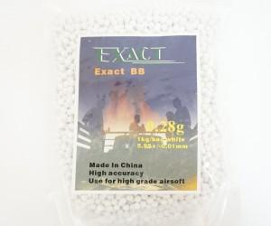 Шары для страйкбола Exact 0,28 г, 3500 штук (1 кг, белые)