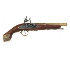 Макет пистолет кремневый, латунь (XVIII век) DE-1077-L