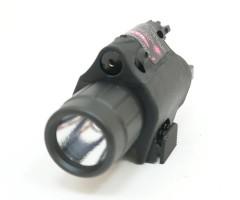 Фонарь подствольный с ЛЦУ (красный) выносная кнопка (BH-FLL01)