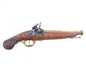 Макет пистолет кремневый, латунь (Англия, XVIII век) DE-1196-L
