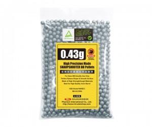 Шары для страйкбола Guarder BBs 0,43 г, 1000 штук (черные) BB-43(1000)