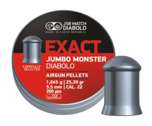 Пули JSB Exact Jumbo Monster Diabolo 5,5 мм, 1,645 грамм, 200 штук