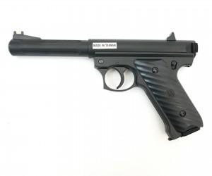 Страйкбольный пистолет KJW Ruger MK2 Black CO₂ GNB