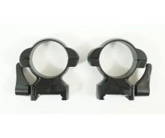 Кольца 30 мм быстросъемные на Weaver, флажковые стальные, средние (BH-RS38)