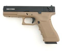 Страйкбольный пистолет KJW Glock G18 CO₂ GBB Tan (KP-18.CO2-TAN)