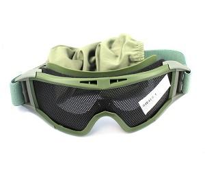 Очки-маска сетчатые Green