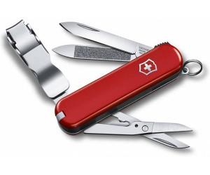 Нож-брелок Victorinox Nail Clip 0.6228 (58 мм, красный)