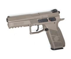 Пневматический пистолет ASG CZ P-09 FDE blowback (пулевой)