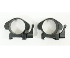 Кольца 30 мм быстросъемные на Weaver, флажковые стальные, низкие (BH-RS37)