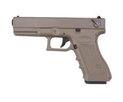 Страйкбольный пистолет Cyma Glock 18C AEP Tan (CM.030TN)