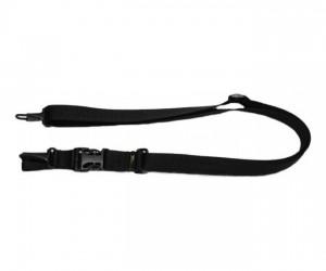 Ремень Vektor тактический трехточечный черный без плечевой накладки, из синтетической ткани