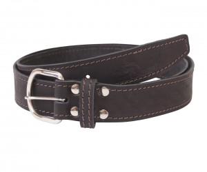 Кожаный ремень Hiter 35 мм, черный, со строчкой