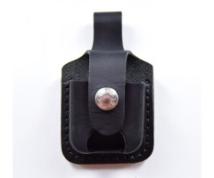 Чехол для зажигалки Zippo LPTBK из кожи, с петлей, черный